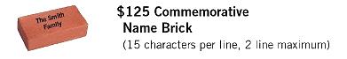 125th Commemorative Brick