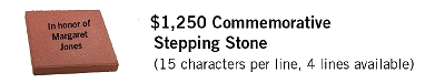 125th Commemorative Stepping Stone