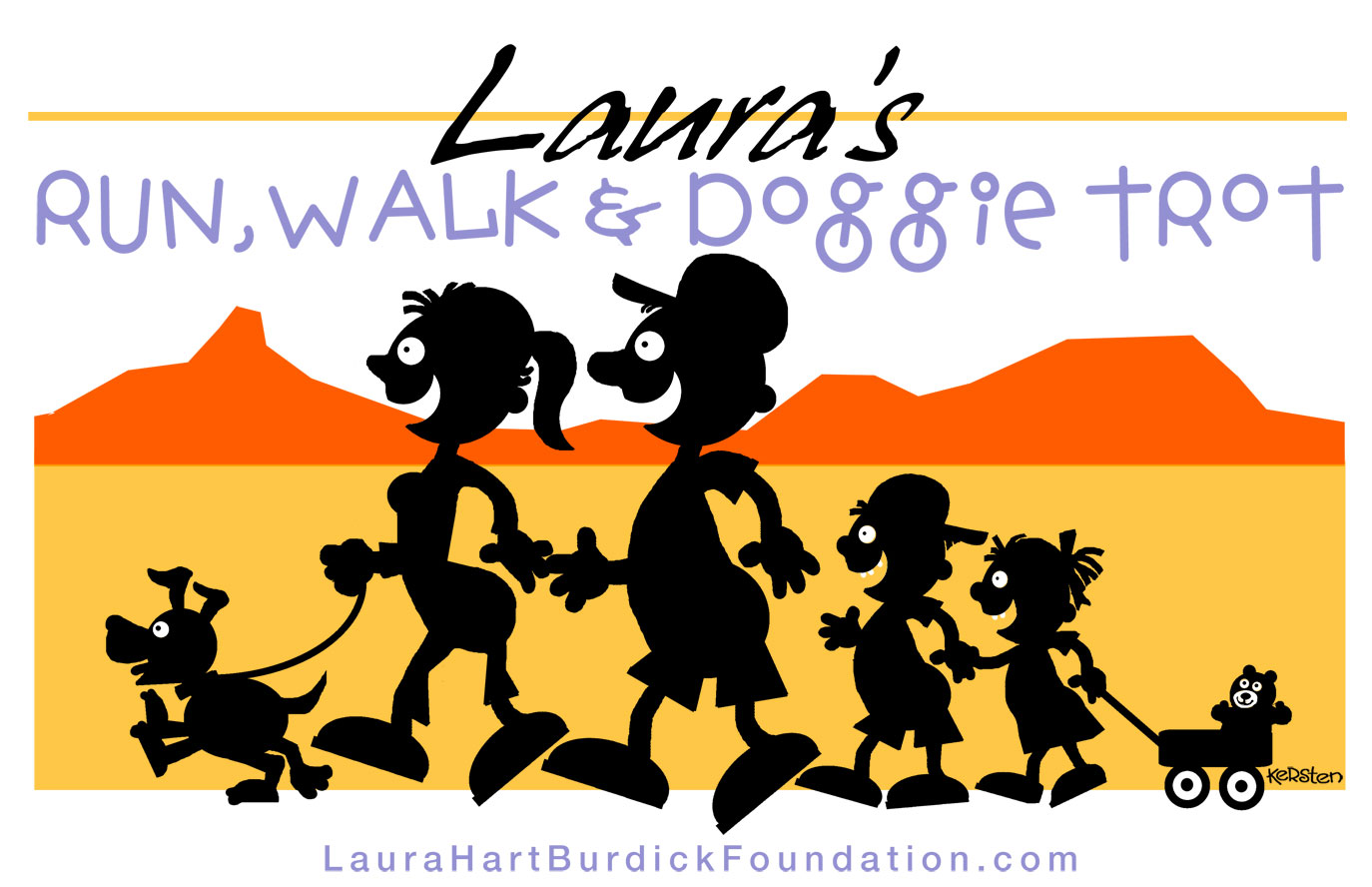 Laura's Run logo-graphic