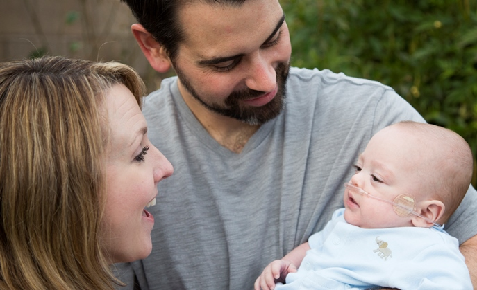 Melissa and Andrew Duarte with their baby Victor