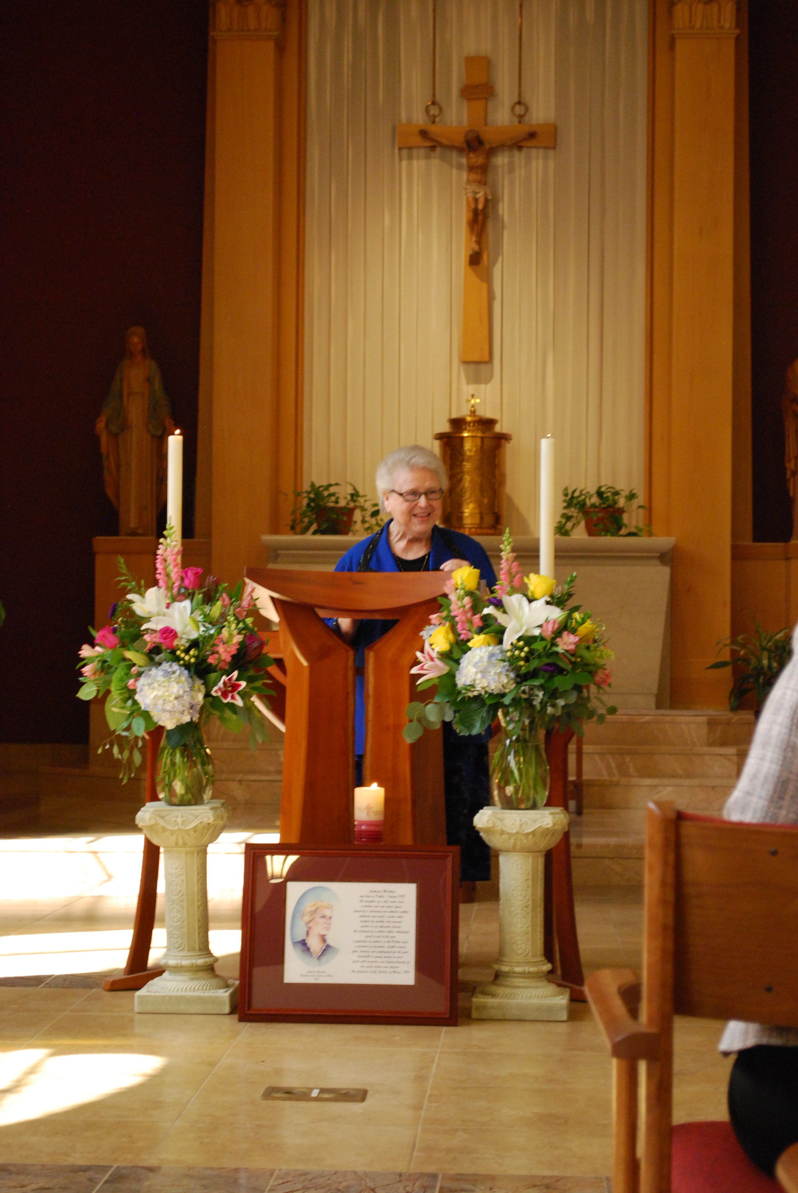 Sister Madonna in the chapel