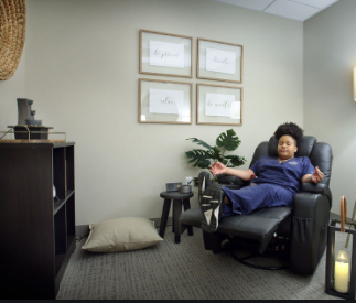 nurse relaxing