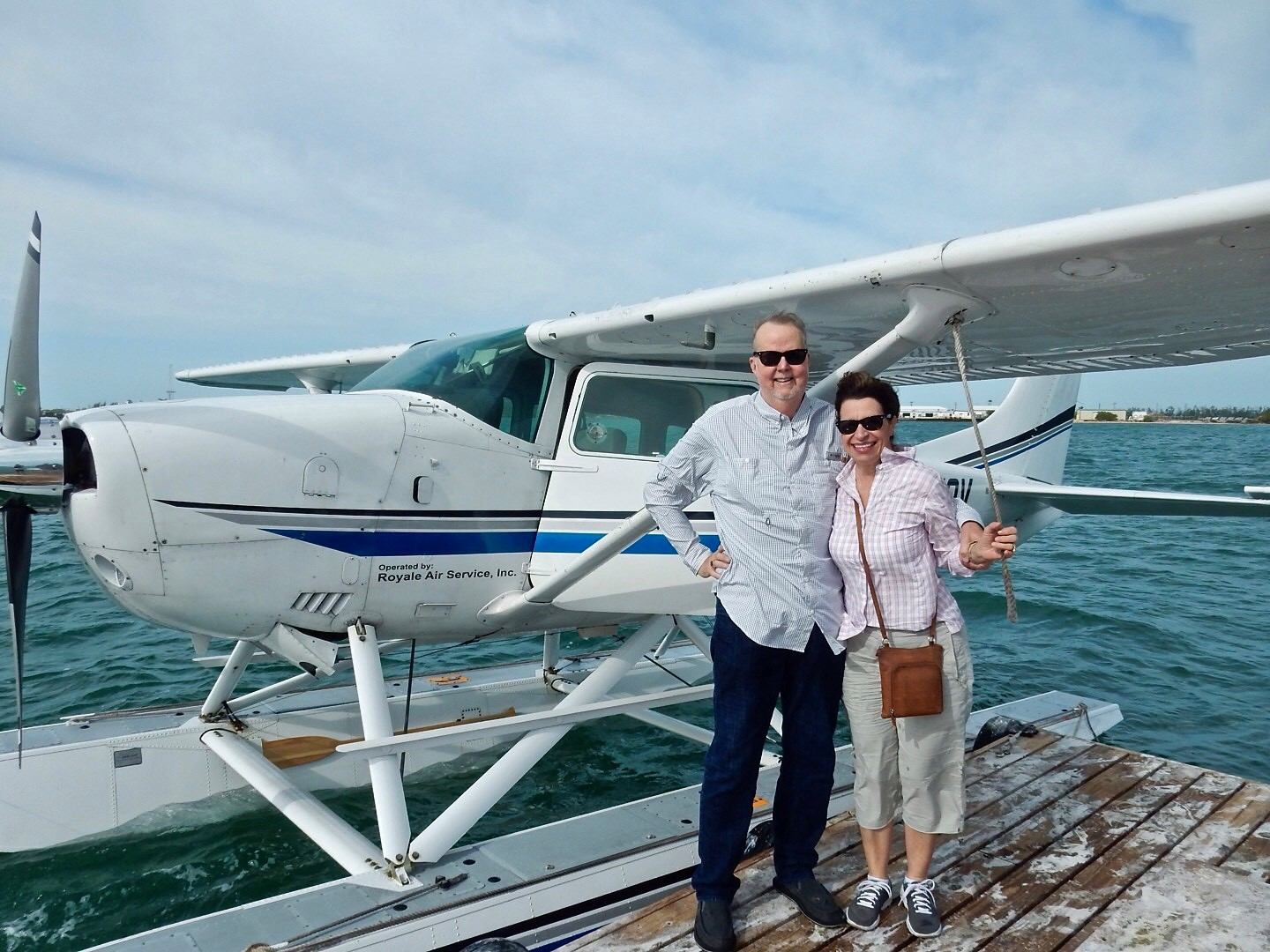 Kent and Yvonne by seaplane