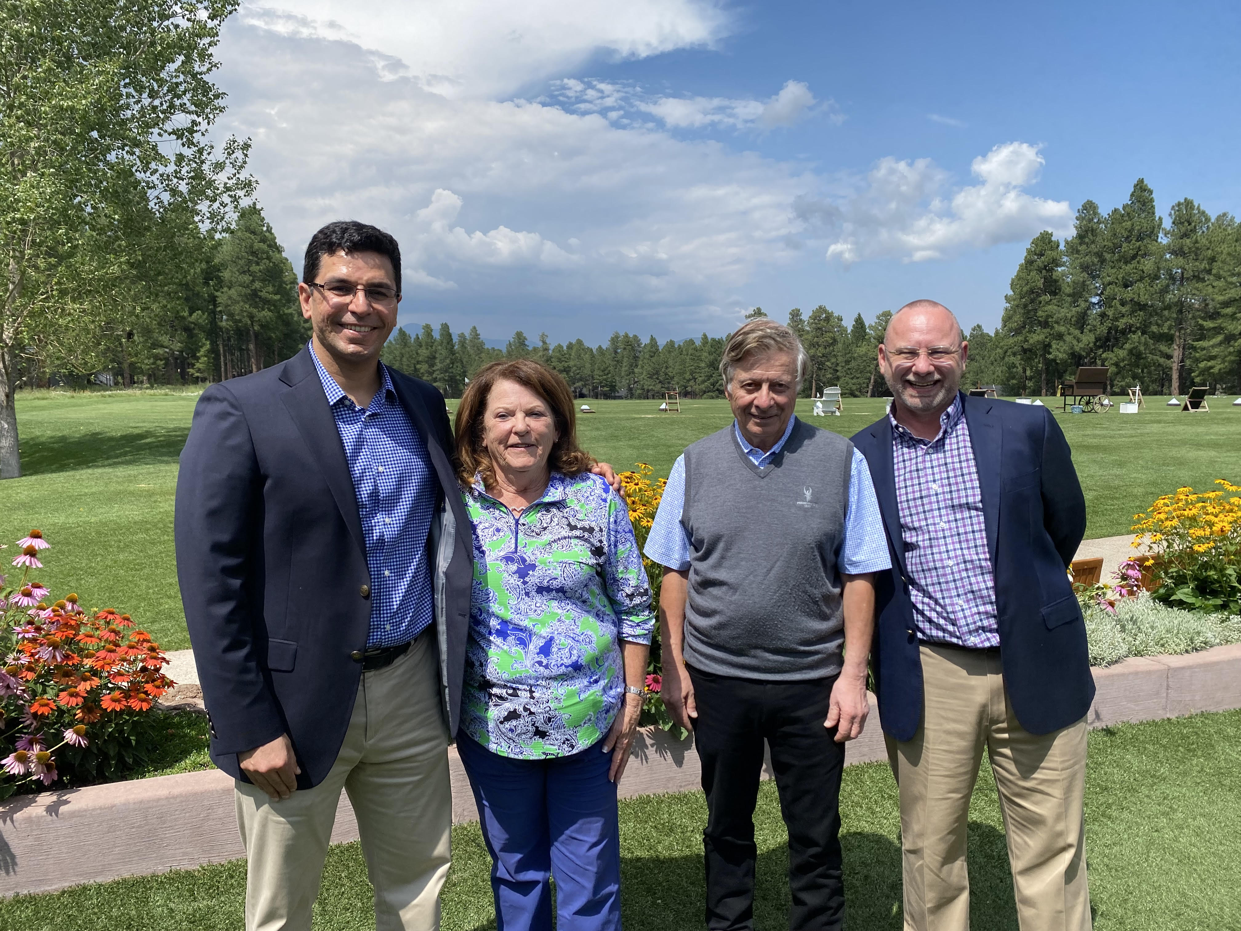 Drs. Saeed and Zgoda with Susan and Art Miele