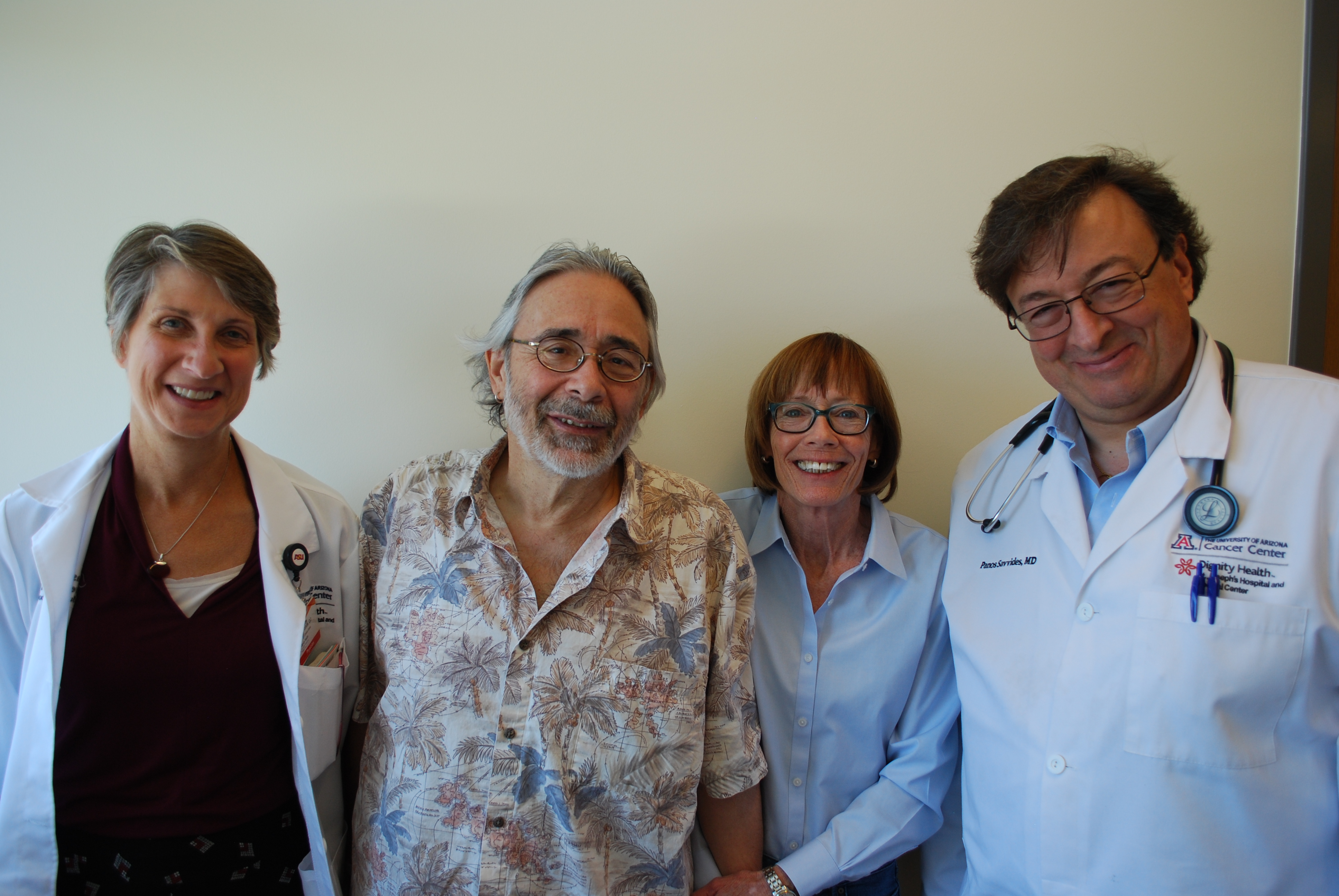 Mike and Beth Rungo with Drs Tobias and Savvides