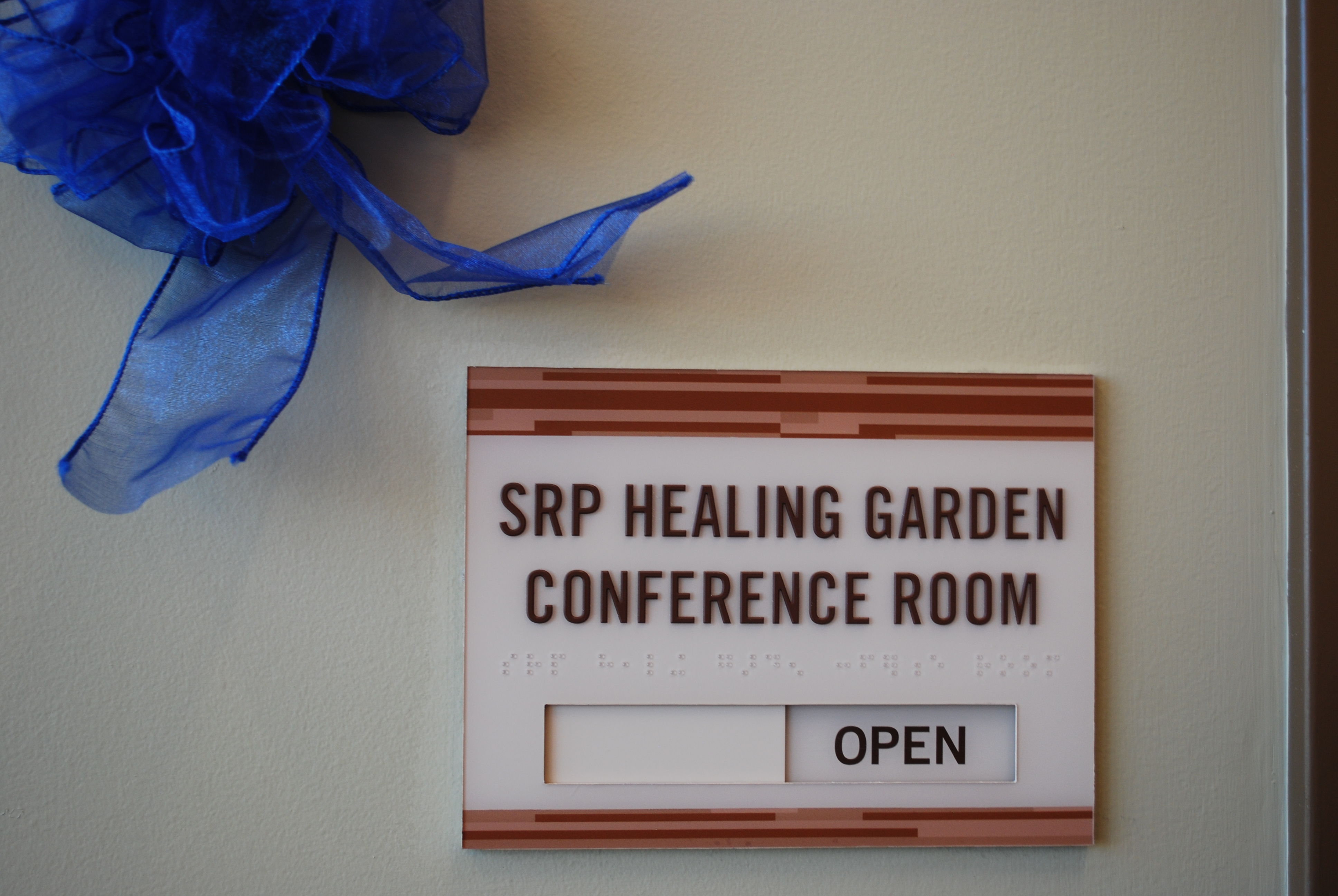SRP conference room sign