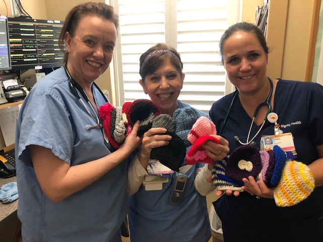 NICU nurses receive handmade caps for infants