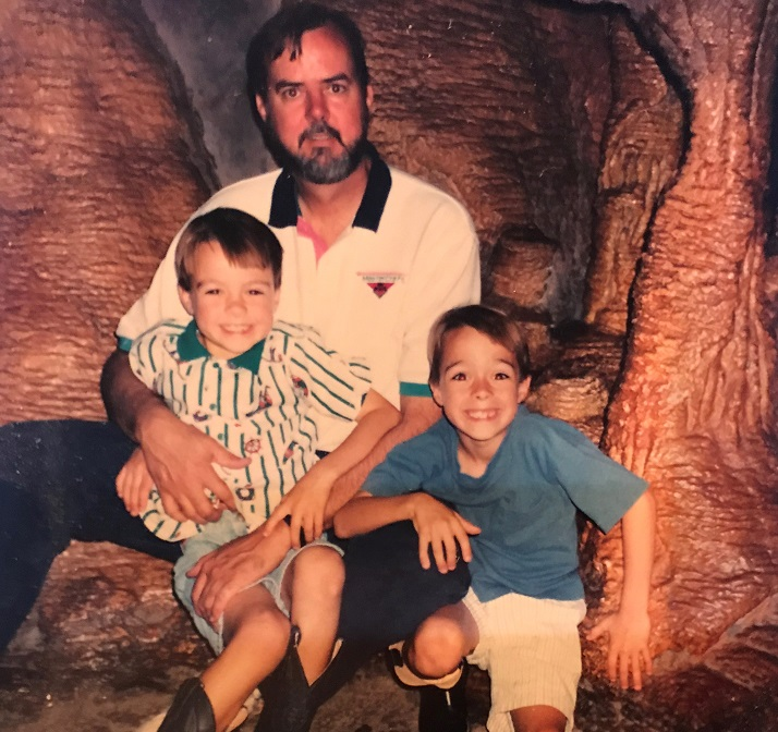 Kent and twin sons, 20 years ago